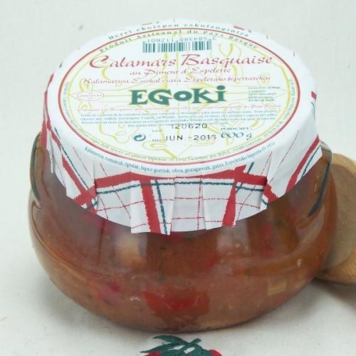 "Squids ""à la Basquaise"" with Espelette chili Pepper 600gr"