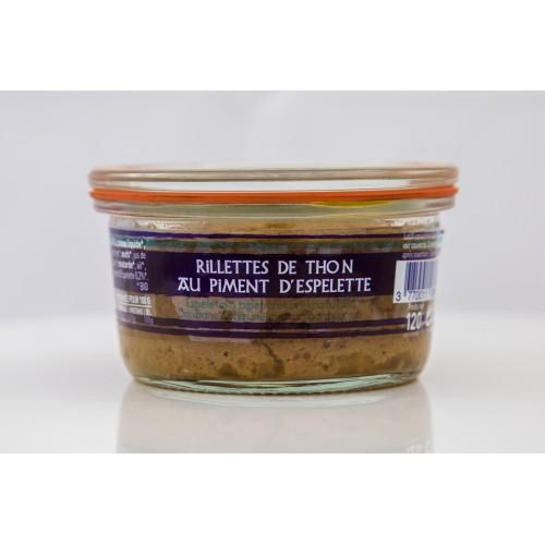 Rillettes de thon de Saint Jean de luz au piment d'Epelette