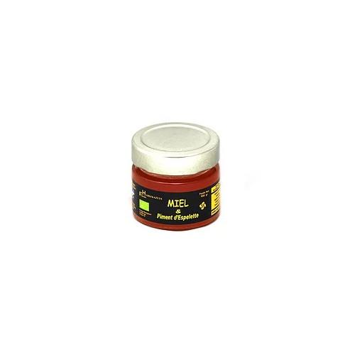 Organic Honey with Espelette Chili Pepper . jar 125gr