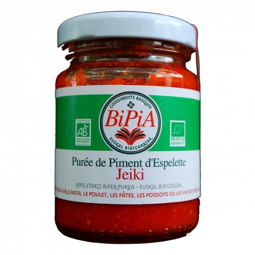 Pipermin purea, Ezpeletako pipermin biologikoa - 90 g