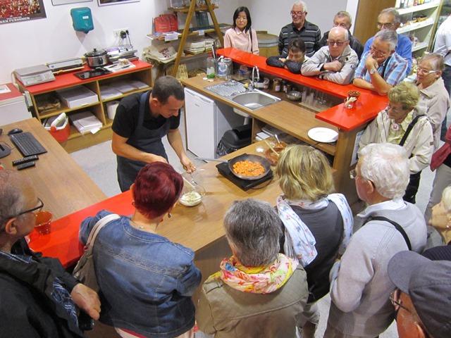Démonstration de cuisine au Piment d'Espelette